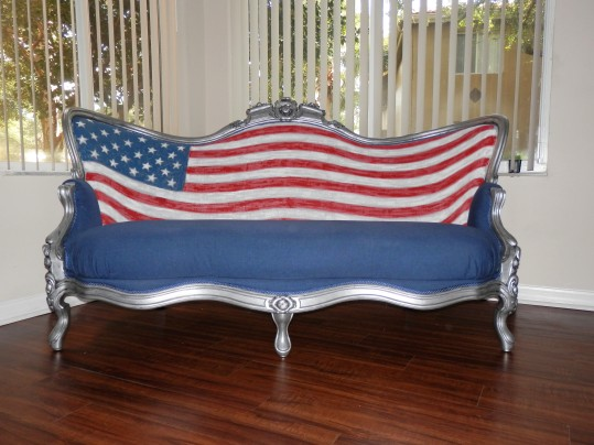 All American Style Victorian Sofa